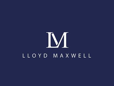 Lloyd Maxwell Brand Identity lloyd maxwell branding brand identity logo blend typography