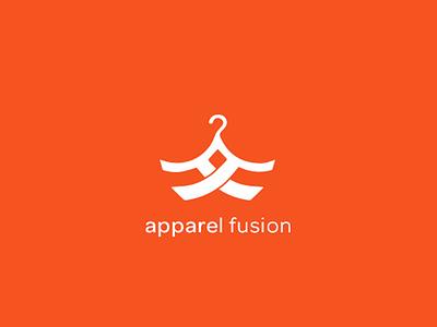 Apparel Fusion Brand Identity monotone orange fusion apparel branding logo