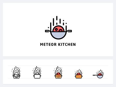 Meteor Kitchen Web Identity meteorjs javascript logo identity branding kitchen meteor