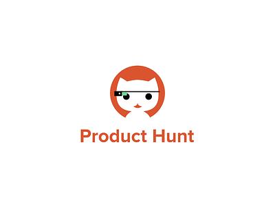 Product Hunt - Glasshole Kitty Branding Concept product logo kitty identity hunt google glasshole concept cat branding