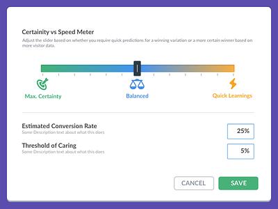 Gradients with a purpose slider gradients website vwo visual statistics smartstats smart optimizer bayesian ab