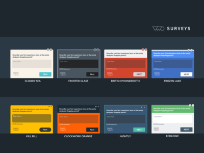VWO Surveys - Preset Themes questions css custom saas up pop survey themes optimizer website visual vwo
