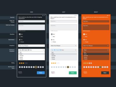 VWO Surveys - Input options questions options input saas up pop survey optimizer website visual vwo