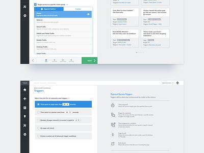 VWO Survey Creation Steps 1 & 2 creation questions options input saas up pop survey optimizer website visual vwo