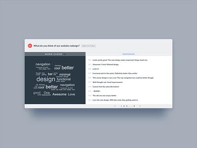 VWO Survey Reports for a single-line-textbox question questions options input saas up pop survey optimizer website visual vwo