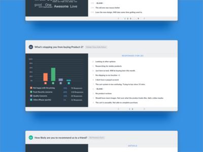 VWO Survey Reports for a multiple-choice question questions options input saas up pop survey optimizer website visual vwo