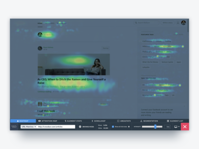 VWO Heatmap Viewer website visual visitor viewer user session screen saas player panel optimizer heatmaps