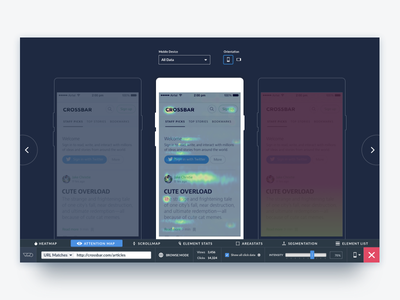 VWO Heatmaps - Mobile Mode website visual visitor viewer user session screen saas player panel optimizer heatmaps