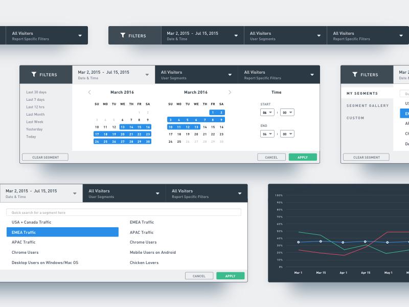 VWO Filters & Segmentation graph report filters segmentation optimizer website visual saas visitor