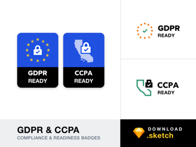 GDPR & CCPA - Compliance and Readiness Badges