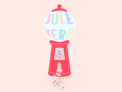 Gumball Machine - Illustration Jule Vera