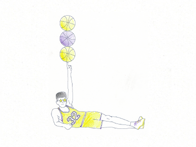 Typefight! Magic! pencil lettering typography illustration celebrity balls sports basketball johnson magic