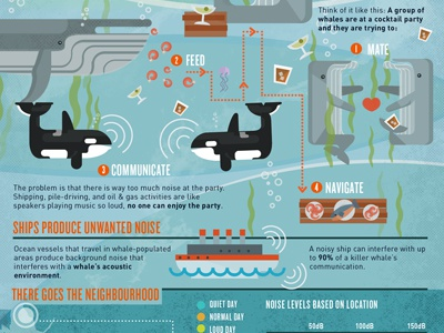 The Secret to a Sound Ocean infographic whales ocean sound auditory communication
