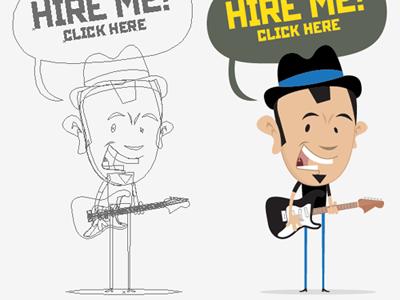My new sidebar item cartoon illustrations sidebar wireframe