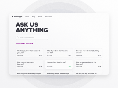Ask Messapps about anything... soon