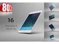 Ipad Mini 4 Mock Up 16 Views