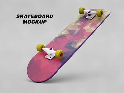 Skateboard Mockup branding brand board wood wheels wheel up template sports sport skating skateboard