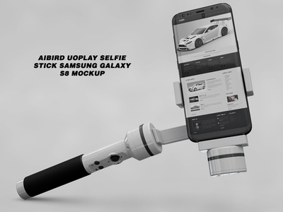 Aibird Uoplay Selfie Stick Samsung Galaxy S8 Mockup