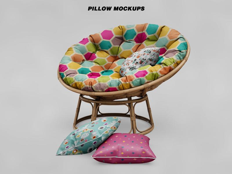Enjoyable Bundle Circle Sofa Pillow Mockup By Pixelmockup On Dribbble Andrewgaddart Wooden Chair Designs For Living Room Andrewgaddartcom