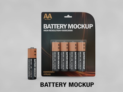 Battery Mockup mock up energy electricity charge cardboard box button cell box battery batteries amperage alkaline accumulator