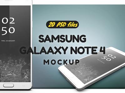 Samsung Galaxy Note 4 Mock-up mockup mock up galaxy s6 galaxy note 4 galaxy edge display clean design black app android