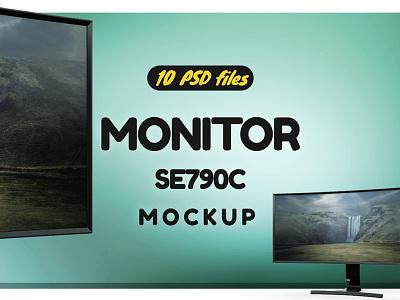 Curved Monitor Mockup mockup tv mockup screen mockup display mockup cinema mockup mock up display curved cinema display cinema