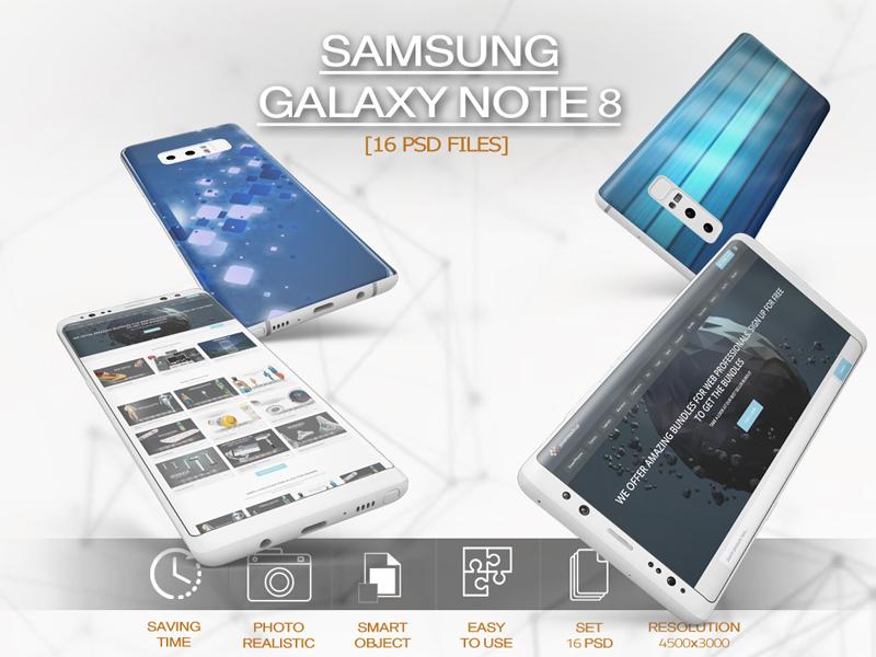 Samsung Galaxy Note 8 Vol 3 Mockup by Pixelmockup on Dribbble