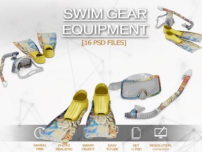 Swim Gear Equipment Mockup ladies diving cycling compression clothing cloth branding brand blank apparel