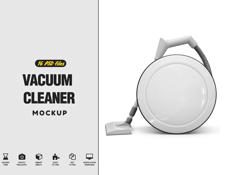 Vacuum Cleaner Mockup by Pixelmockup on Dribbble