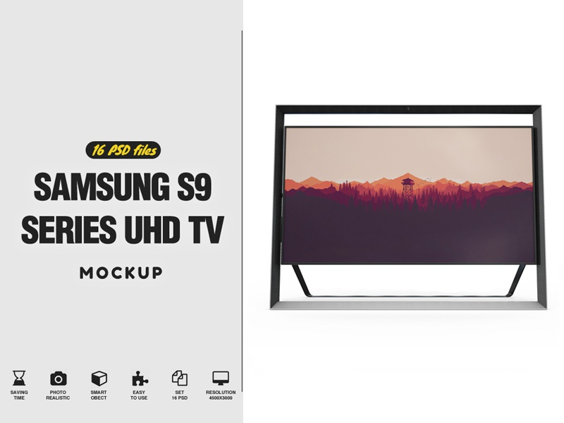 Samsung S9 Mockup mockup mock ups mahyar sakaki led display led lcd hd full hd display design curved tv clean