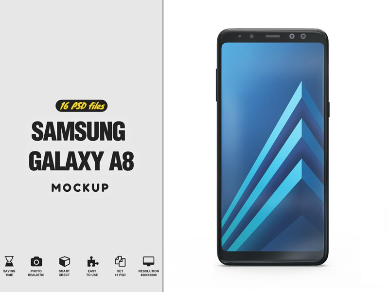 Samsung Galaxy A8 Mockup led lcd hd full hd display design curved tv clean cinema