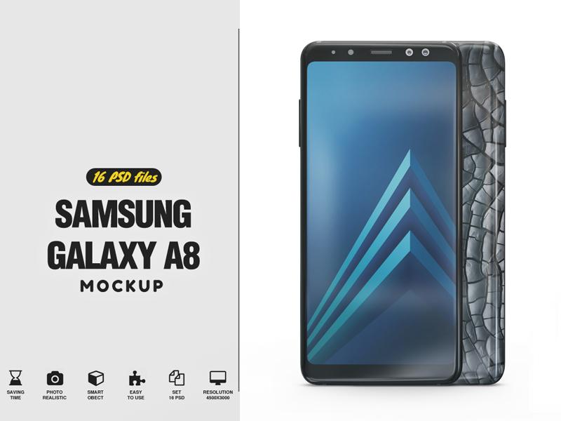 Samsung Galaxy A8 Mockup lcd hd full hd display design curved tv clean cinema