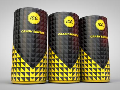 Crash Sensor Packaging packaging tube yellow triangles black