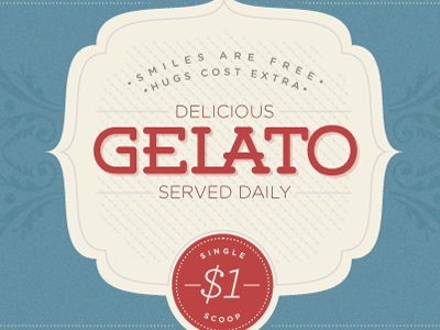 Gelato - Sneak Peek gelato ice cream enclosure blue retro