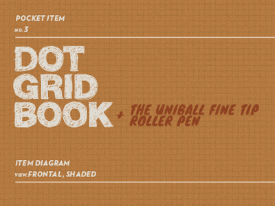 Pocket Item No.3 - Dot Grid Book + Pen