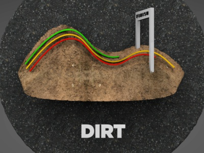 Dirt dirt pavement animation race finish