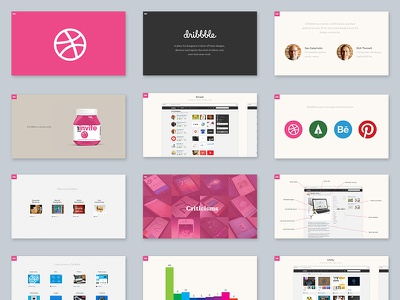 Introduction to Dribbble free slides dribbble deck keynote