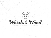 Words on Wood | Logotype and monogram