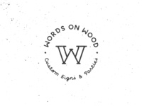 Words on Wood | Monogram, name and tagline
