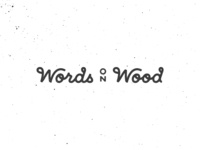 Words on Wood | Logotype
