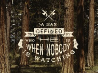 A Man Is Defined