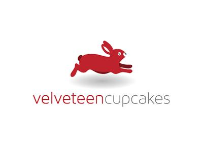 Velveteen Cupcakes logo branding cupcakes rabbit