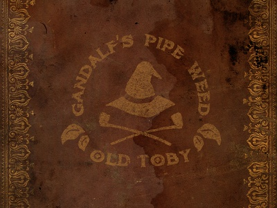 Gandalf's Pipe Weed - Old Toby gandalf pipe weed old toby branding logo hand lettering typography