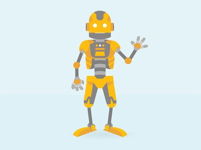 Robot illustration vector robot