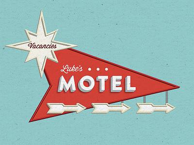 Luke's Motel sign painting motel typography