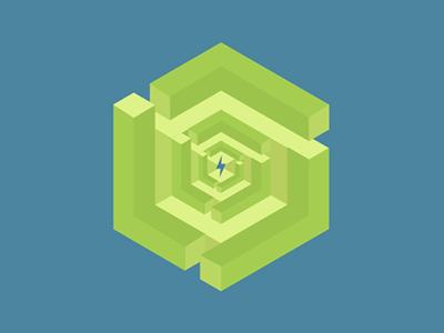 Retool - Vortex icon gestalt labyrinth retool 3d vortex