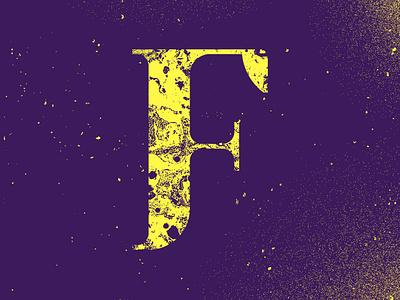 Custom F letter mark branding icon illustrator illustration design
