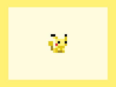 Pikachu pixel art retro 8bit pixel illustration design