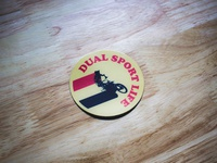 Dual Sport Life Sticker 2