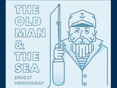 Old Man Sea old man captain sea cover book logo illustrator design atlanta atl identity branding